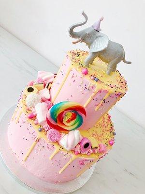 Olifant circus taart