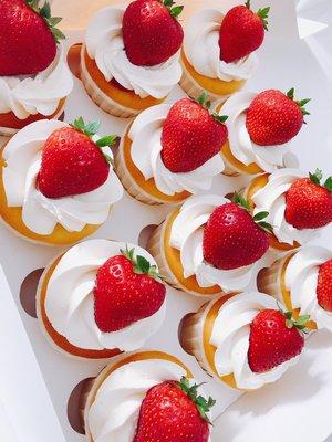 Cupcakes Aardbei Vanille
