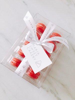 Macarons Rood