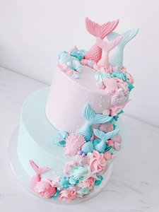 mariasweetcakery Mermaid cake