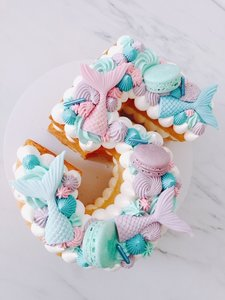 mariasweetcakery Mermaid cijfercake