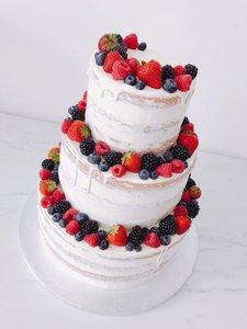 mariasweetcakery Bruidstaart vers fruit