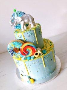 mariasweetcakery Circus olifant donut
