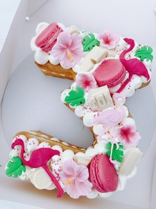 mariasweetcakery Cijfercake flamingo