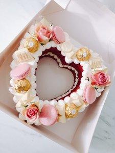 mariasweetcakery Hart taart