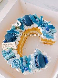 Cijfer cake afzwemmen