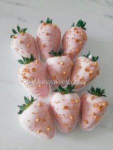 Gedipte aardbeien