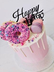 Donut Taart met Macarons