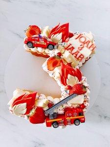 mariasweetcakery Brandweer cijfercake