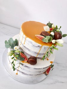 mariasweetcakery Naked vijgen cake