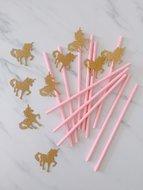 Unicorn papieren rietjes