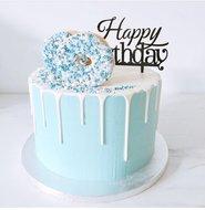 mariasweetcakery Donut taart blauw